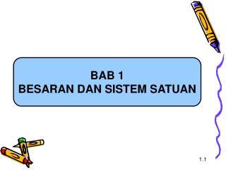 BAB 1 BESARAN DAN SISTEM SATUAN