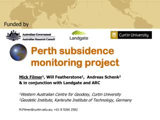 Perth subsidence monitoring project