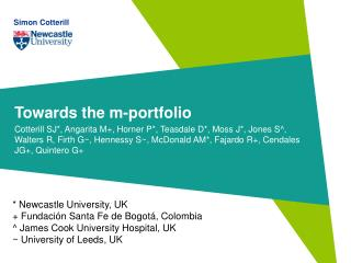 Towards the m-portfolio
