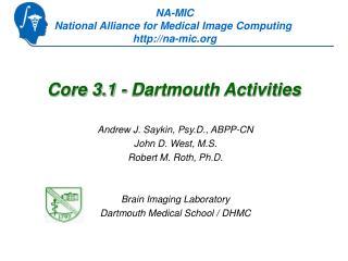 Core 3.1 - Dartmouth Activities