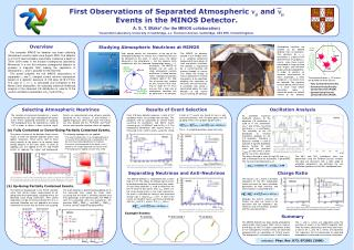 First Observations of Separated Atmospheric     and    Events in the MINOS Detector.