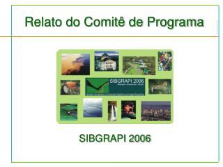 Relato do Comitê de Programa