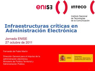 Infraestructuras críticas en Administración Electrónica