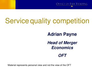 Service quality competition
