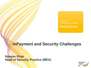 mPayment and Security Challenges