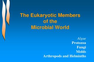 The Eukaryotic Members of the  Microbial World