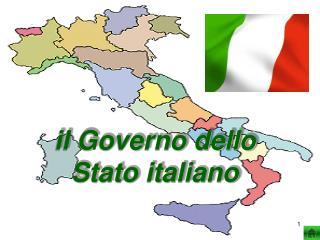 il Governo dello Stato italiano