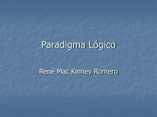 Paradigma Lógico