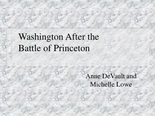 Washington After the Battle of Princeton