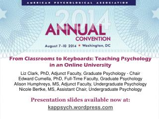 From Classrooms to Keyboards: Teaching Psychology in an Online University