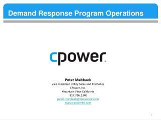 Demand Response Program Operations