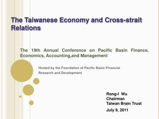 Hosted by the Foundation of Pacific Basin Financial  Research and Development