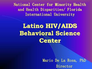 National Center for Minority Health and Health Disparities