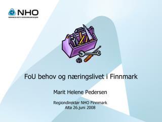 FoU behov og næringslivet i Finnmark