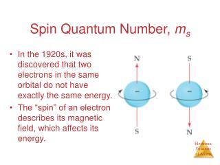 Spin Quantum Number,  m s