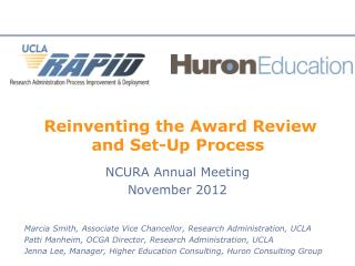 Reinventing the Award Review and Set-Up Process