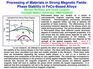 Processing of Materials in Strong Magnetic Fields: Phase Stability in FeCo-Based Alloys