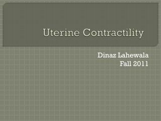 Uterine Contractility