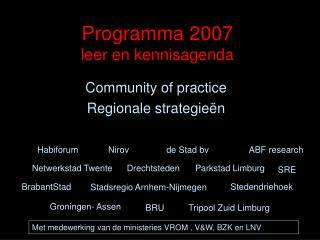 Programma 2007 leer en kennisagenda