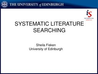SYSTEMATIC LITERATURE SEARCHING