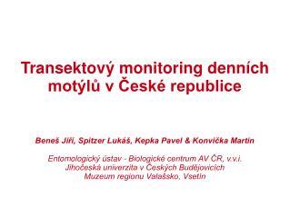 Transektový monitoring denních motýlů v České republice