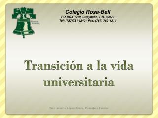 Transición a la vida universitaria