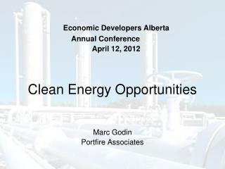 Clean Energy Opportunities