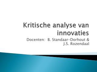 Kritische analyse van innovaties
