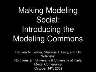 Making Modeling Social: Introducing the Modeling Commons