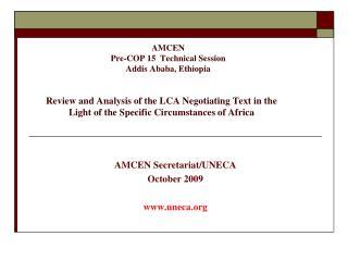 AMCEN  Secretariat /UNECA October  2009 uneca