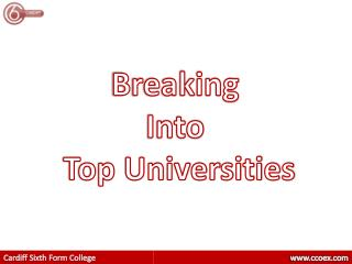 Breaking  Into  Top Universities