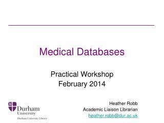 Medical Databases