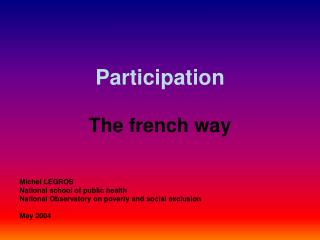 Participation The french way