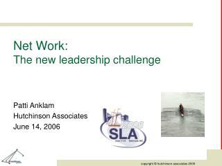Net Work:  The new leadership challenge