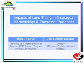 MCC Nicaragua Program