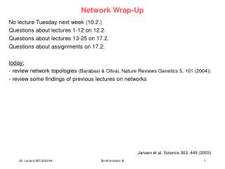 Network Wrap-Up