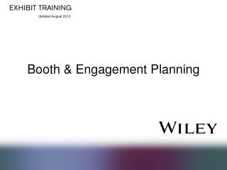 Booth & Engagement Planning