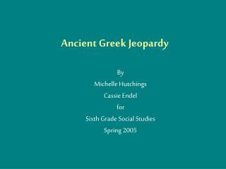 Ancient Greek Jeopardy