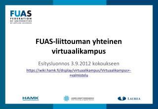 FUAS-liittouman  yhteinen virtuaalikampus