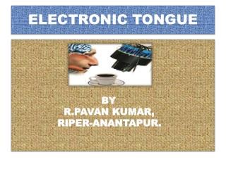 ELECTRONIC TONGUE