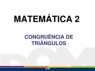 MATEM�TICA 2