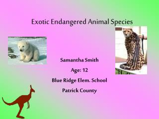 Exotic Endangered Animal Species