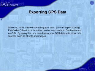 Exporting GPS Data