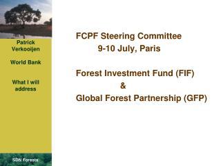 Patrick Verkooijen World Bank What I will address