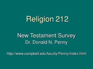 Religion 212