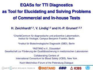 H. Zeichhardt 1,3 , V. Lindig 1,2  and H.-P. Grunert 1,2,3