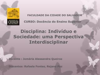 FACULDADE DA CIDADE DO SALVADOR