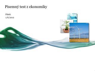 Písemný test z ekonomiky