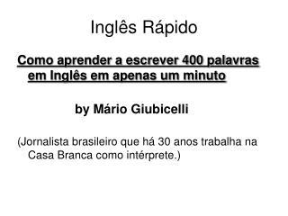 Inglês Rápido