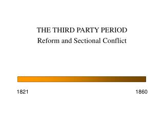 THE THIRD PARTY PERIOD Reform and Sectional Conflict